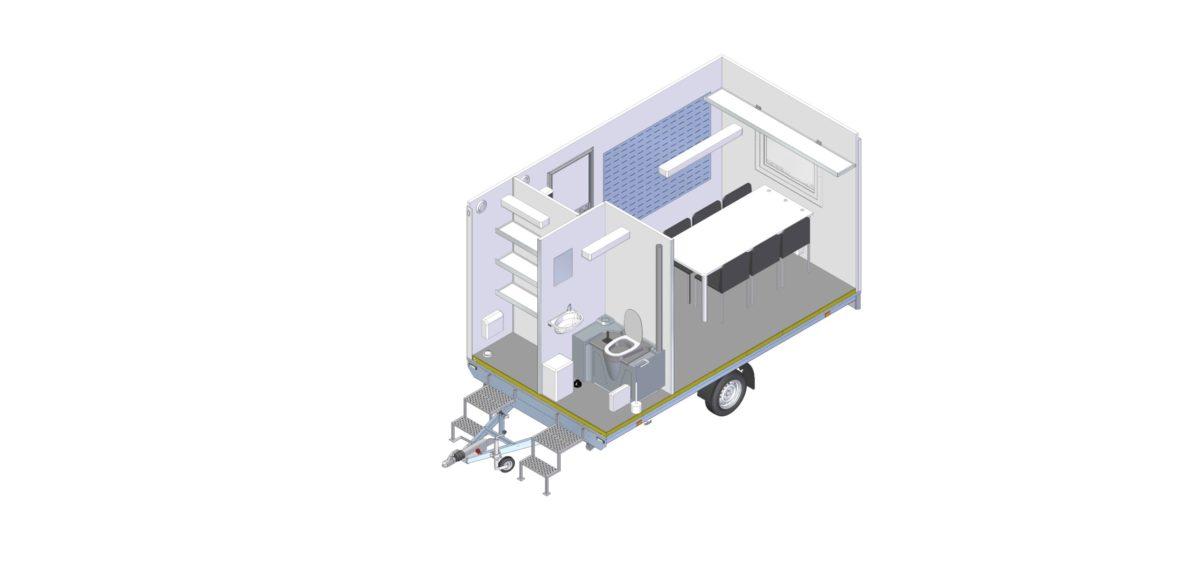 Mannskapsvogn <br>RESPO 420 3-dørs 6 personer 12