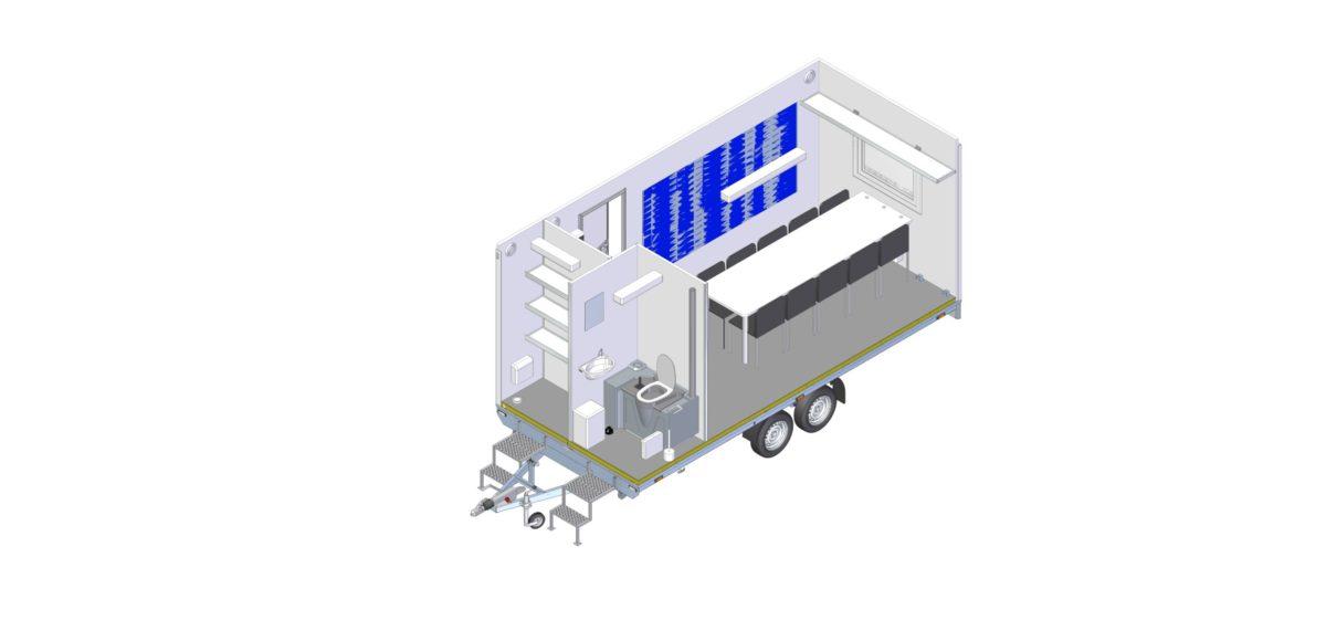 Mannskapsvogn <br>RESPO 520  3-dørs 10 personer 16