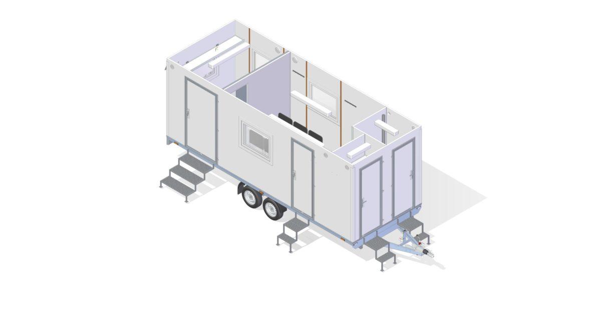 Mannskapsvogn <br>RESPO 620  4-dørs 6 personer + ekstrakontor 14