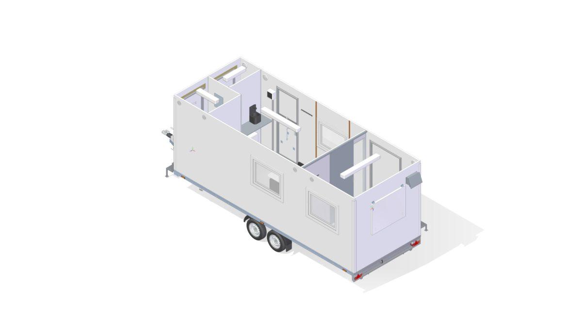 Mannskapsvogn <br>RESPO 620  4-dørs 6 personer + ekstrakontor 16