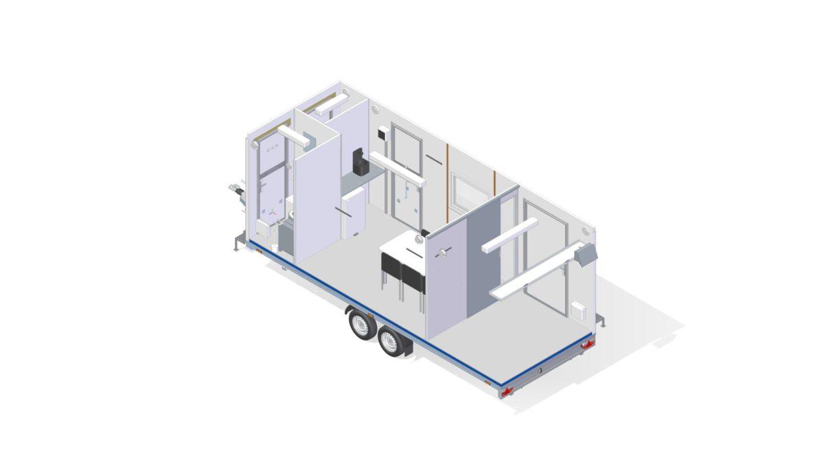Mannskapsvogn <br>RESPO 620  4-dørs 6 personer + ekstrakontor 17