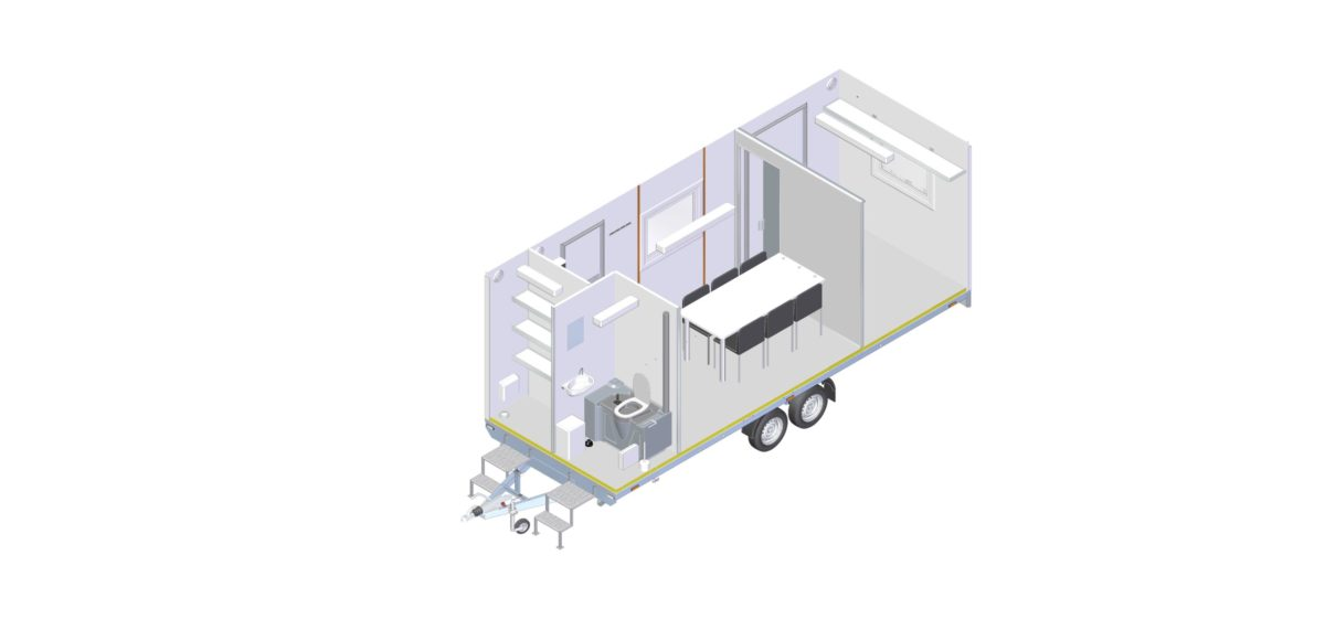 Mannskapsvogn <br>RESPO 620  4-dørs 6 personer + ekstrakontor 18