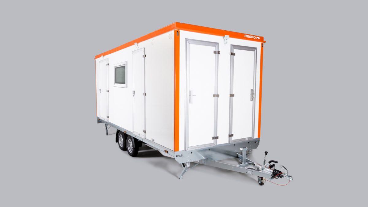 Mannskapsvogn <br>RESPO 620  4-dørs 6 personer + ekstrakontor 1