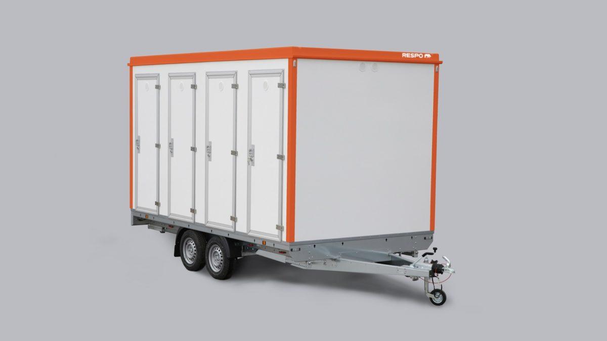 Toalettvogn <br>RESPO 420 8 toaletter 1