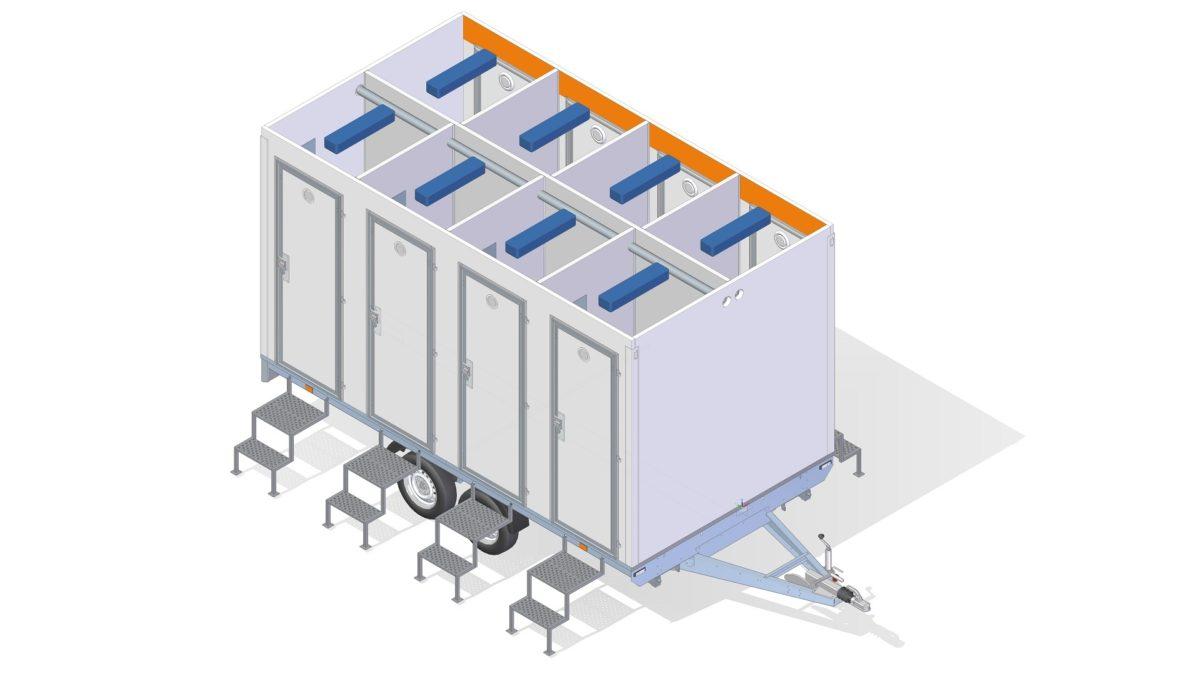 Toalettvogn <br>RESPO 420 8 toaletter 2
