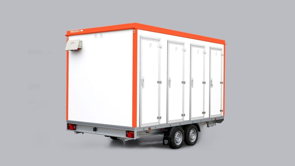 Toalettvogn <br>RESPO 420 8 toaletter 3