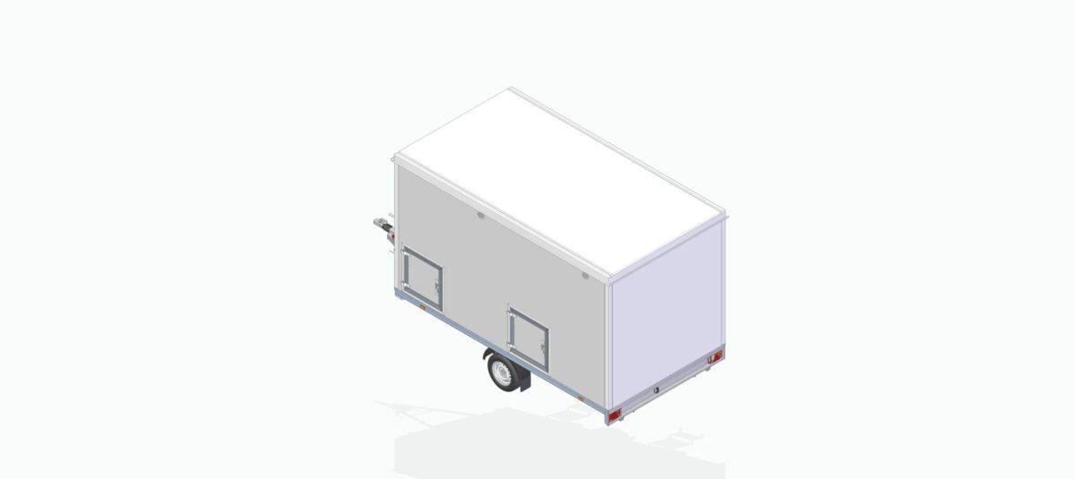 Baderomsvogn <br>RESPO 420 Dobbelt baderom 20