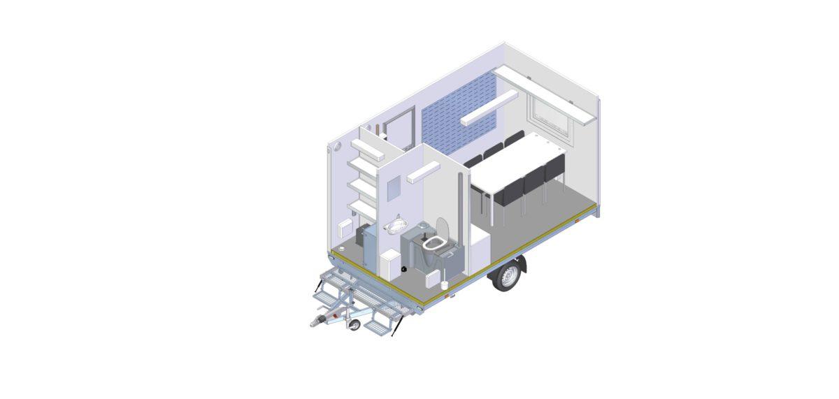 Mannskapsvogn <br>RESPO 420 3-dørs Gass/hybrid 21