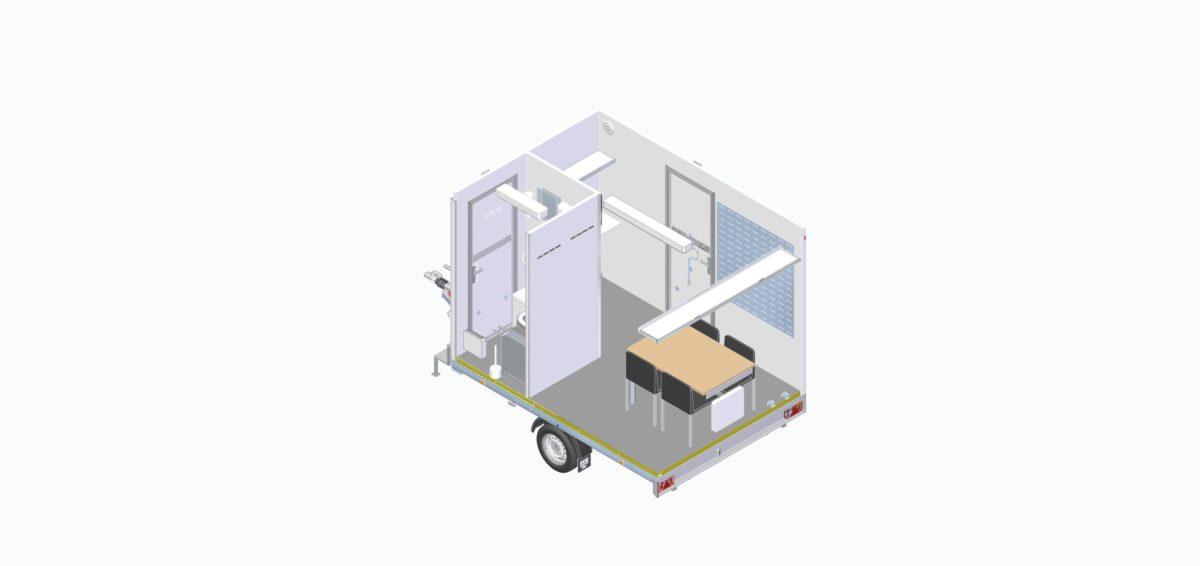 Mannskapsvogn <br>RESPO 320 2-dørs 4 personer 8