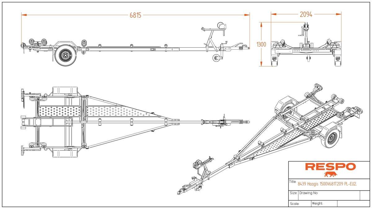 Båthenger <BR>RESPO R 1500 P 4