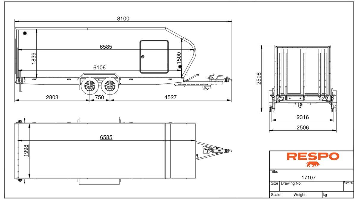Biltransporthenger <br>RESPO CT 3500 XL 93