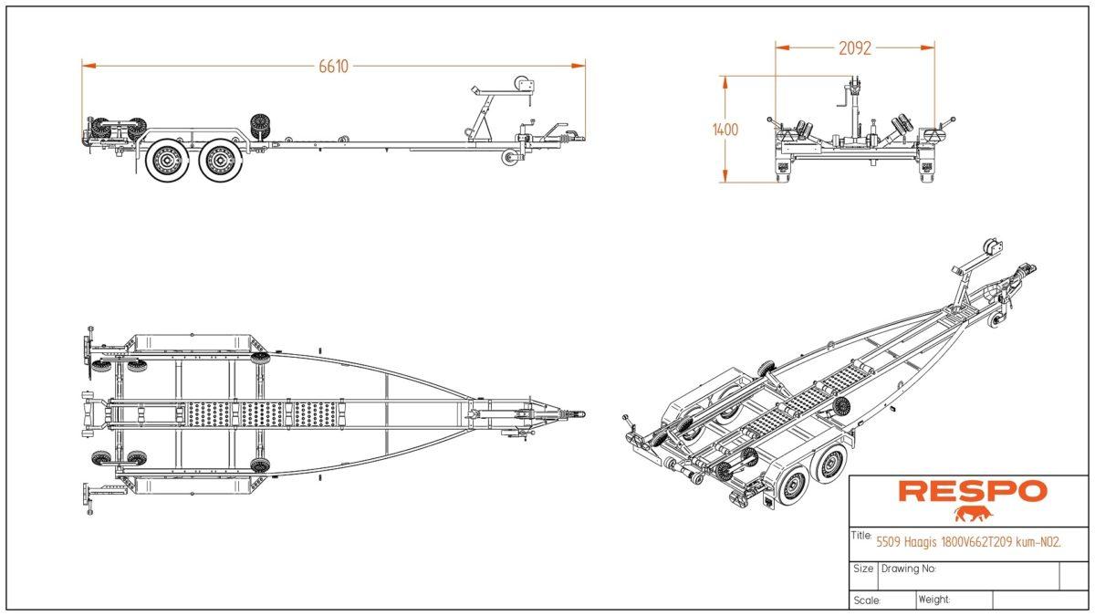 Båthenger <br>RESPO R 1800 P 3