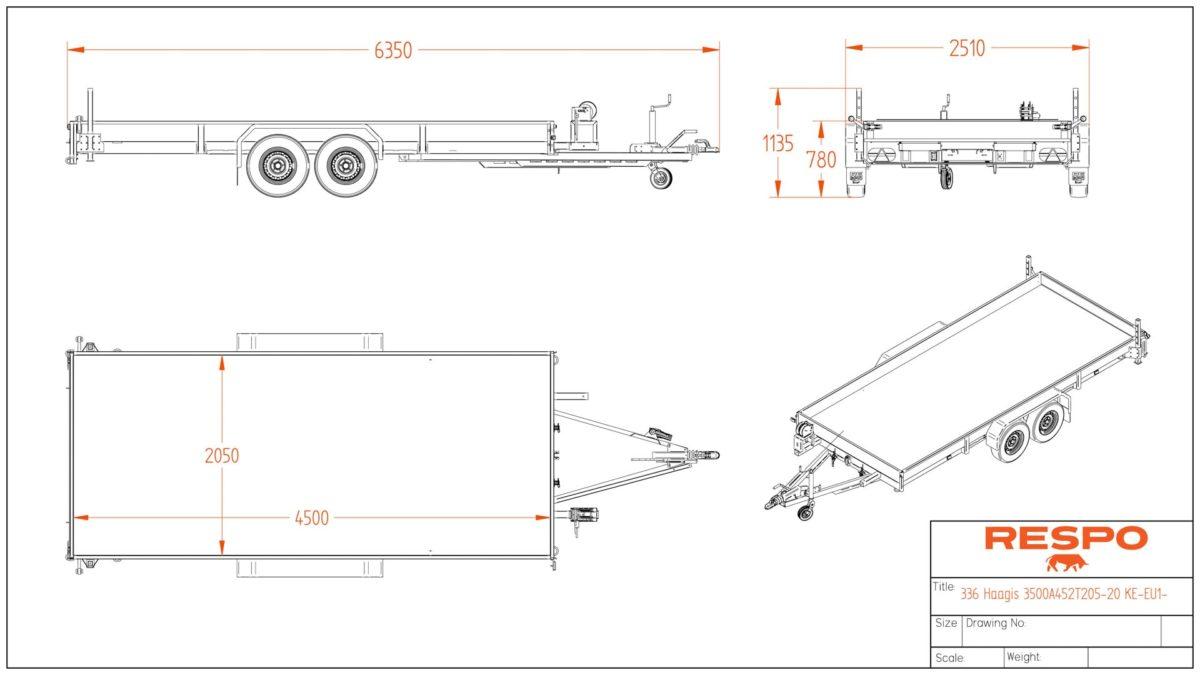 Biltransporthenger <br>RESPO RB 4935AT 3500 kg 5