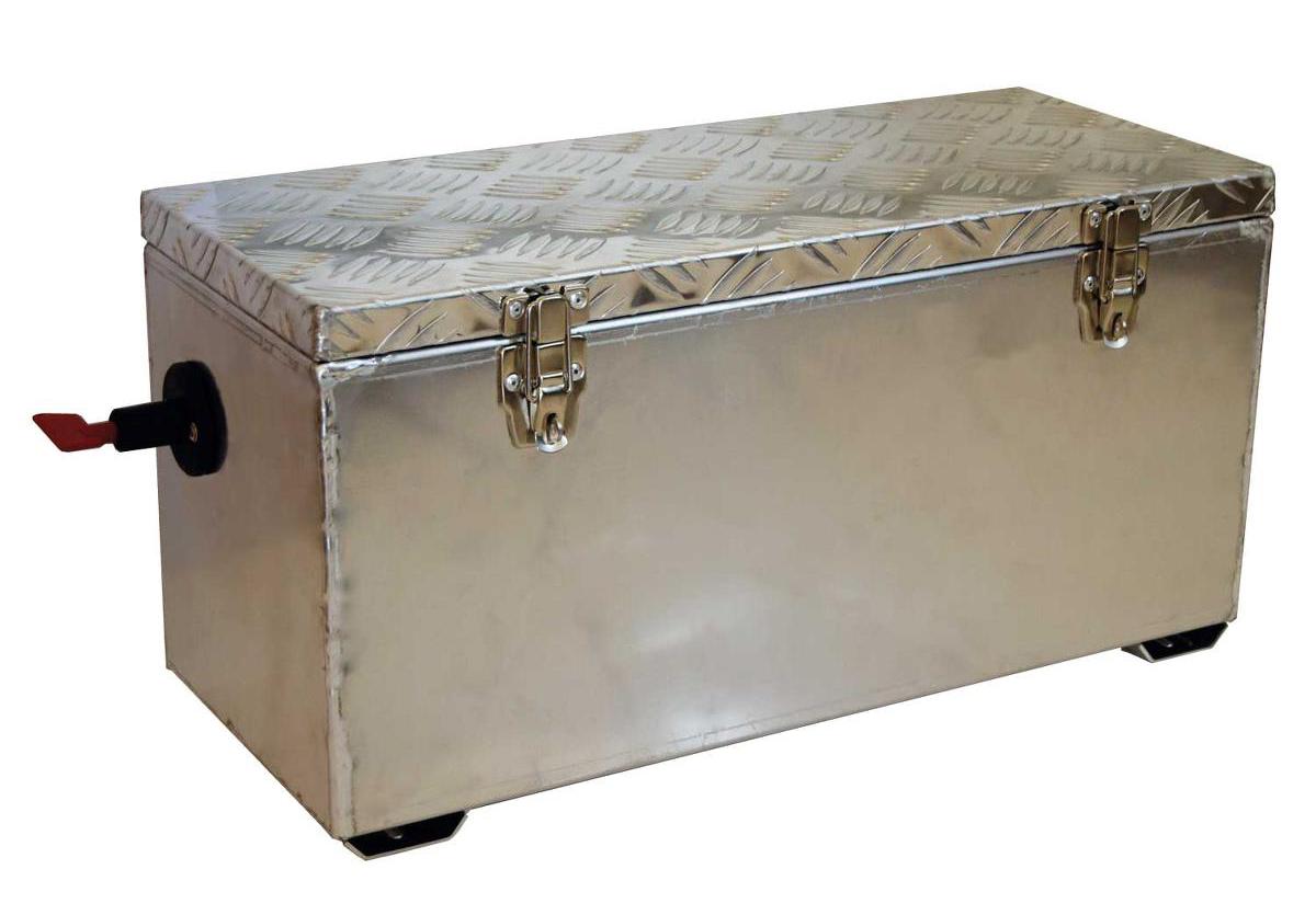 Batterikasse <br>med hovedstrømbryter ALU 1