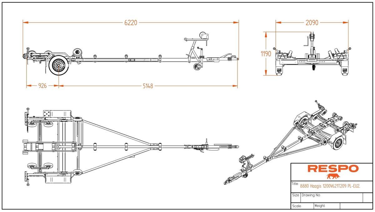 Båthenger <br>RESPO R 1200 Pioner 3