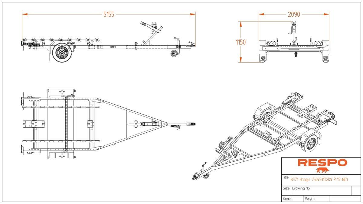 Båthenger <br>RESPO R 750 C 4