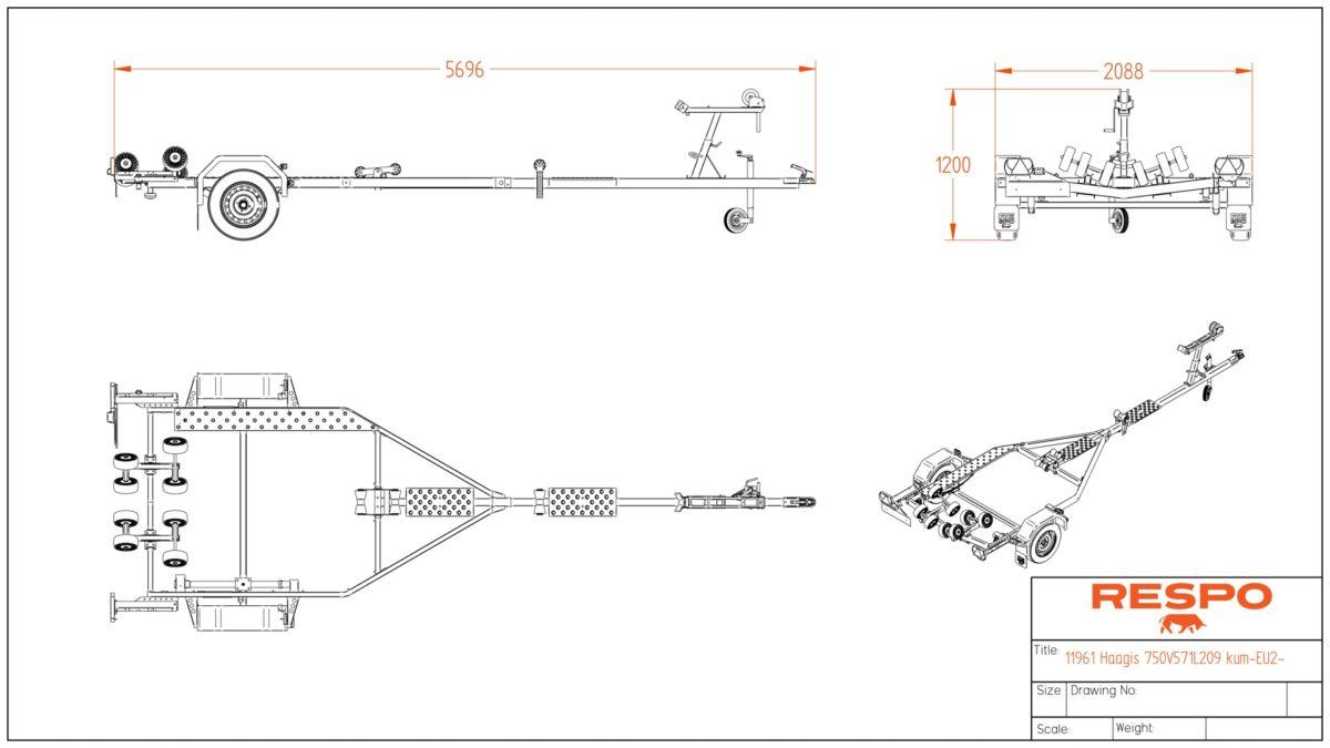 Båthenger <br>RESPO R 750 MR 1