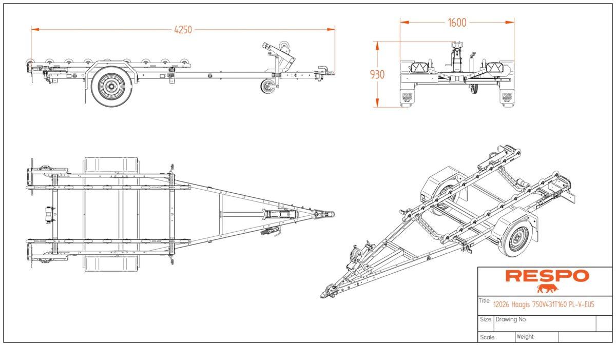 Båthenger <br>RESPO R 750 RS Pio 4