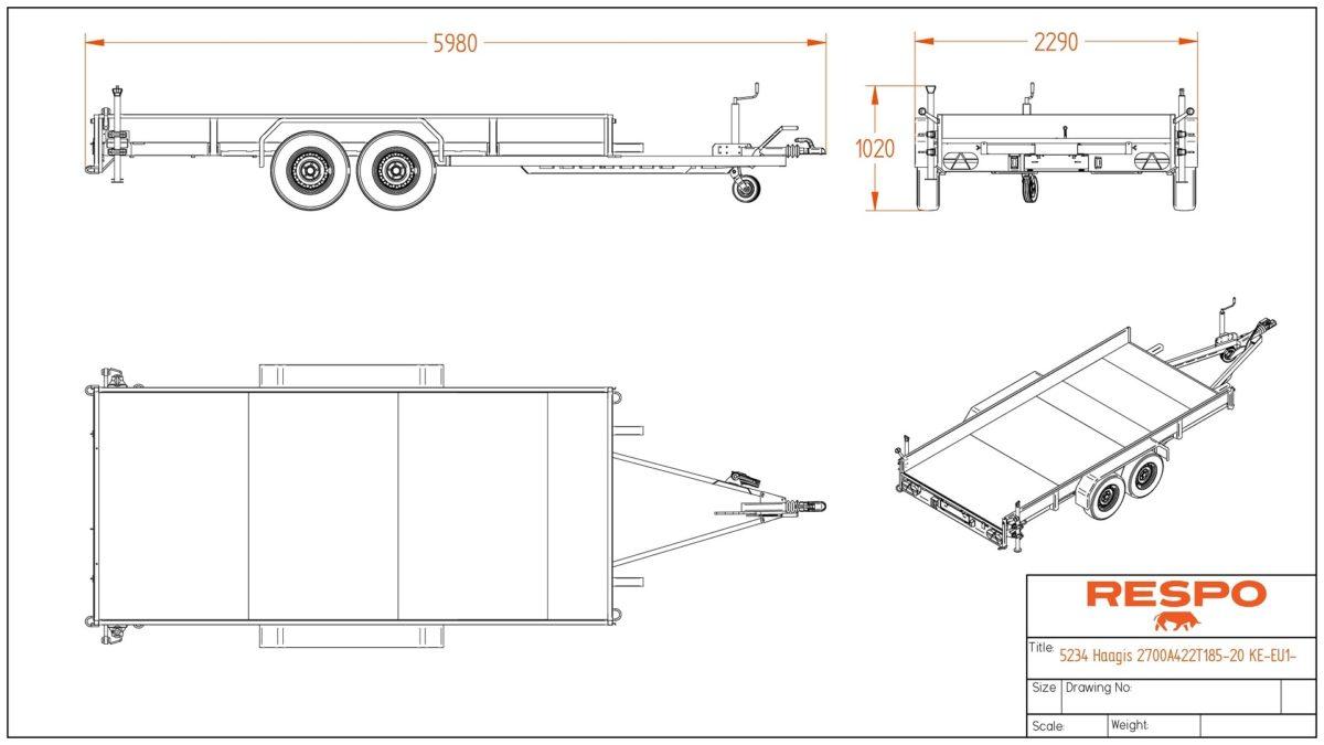 Biltransporthenger <br>RESPO RB 4227AT 2700 kg 4