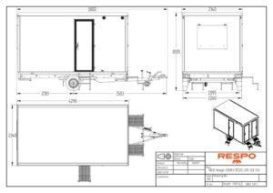 thumbnail of RESPO 420 3-dørs 6 personer med forbrenningstoalett