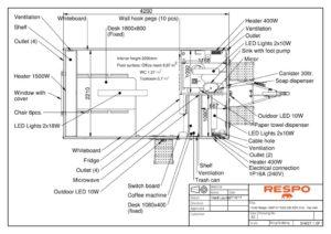 thumbnail of RESPO 420 3-dørs 6 personer med forbrenningstoalett-topp