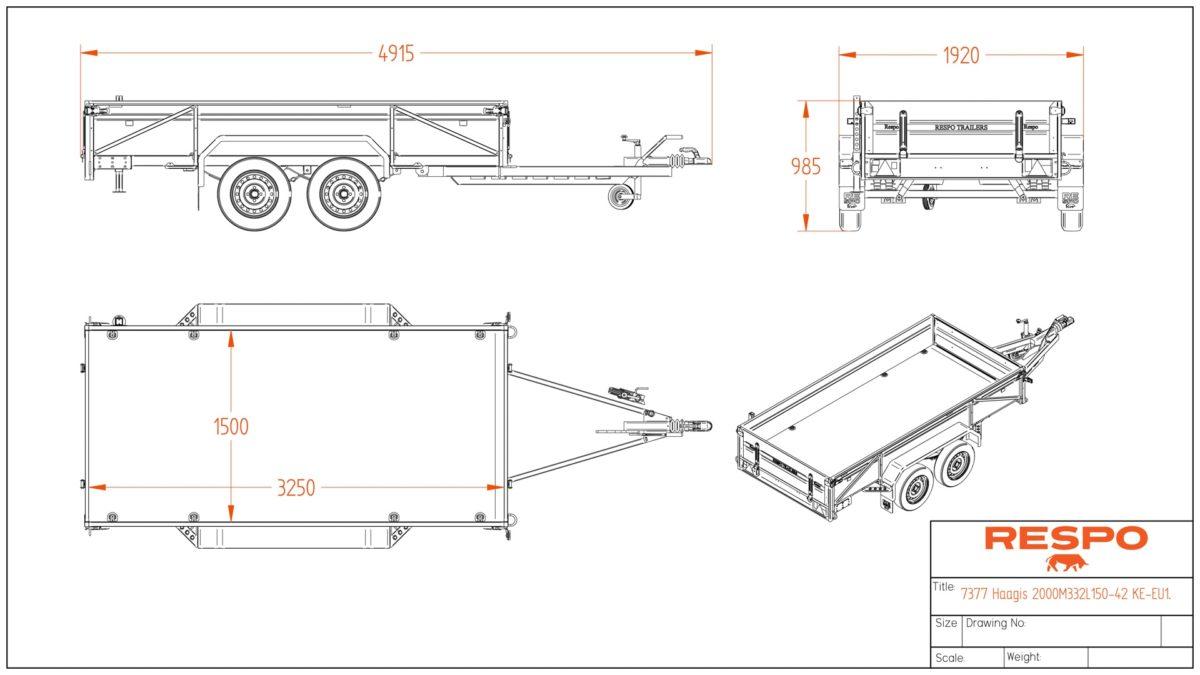 Varehenger <br>RESPO  RS 3320 L 2000 kg 4