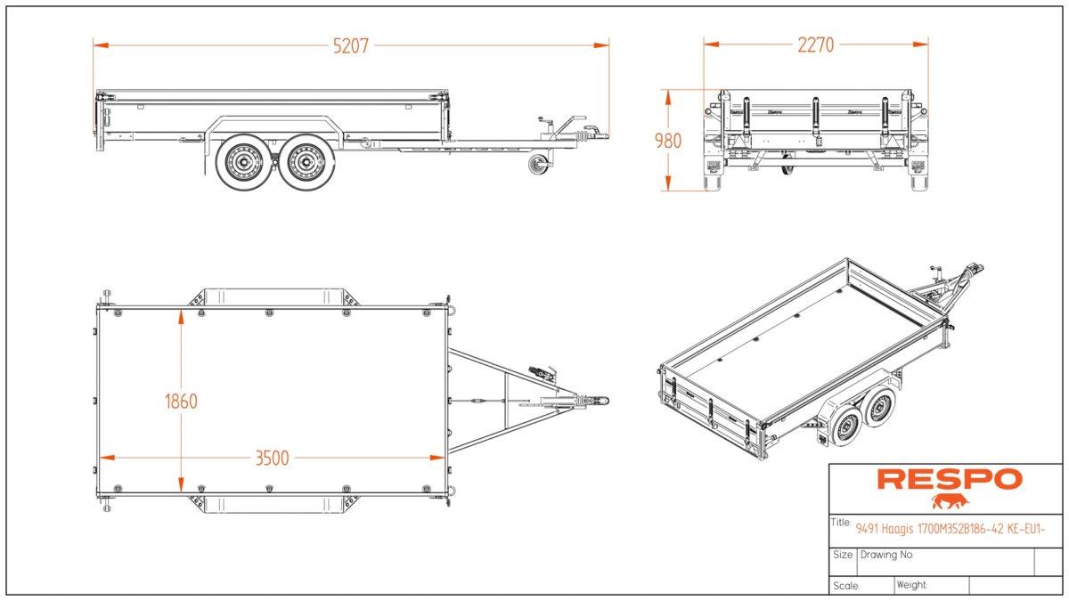 Varehenger <br>RESPO  RS 3517 B 2000 kg 4