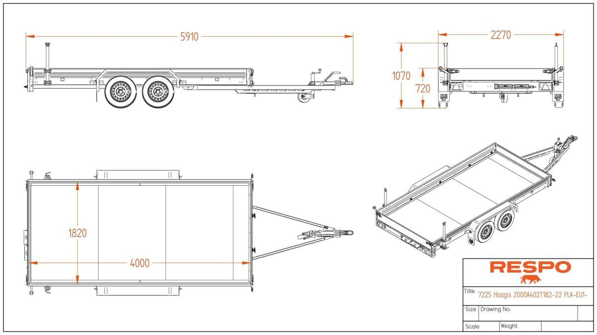 Biltransporthenger <br>RESPO RB 4020AT 2000 kg 4